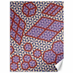 Triangle Plaid Circle Purple Grey Red Canvas 36  X 48   by Alisyart