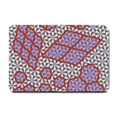 Triangle Plaid Circle Purple Grey Red Small Doormat