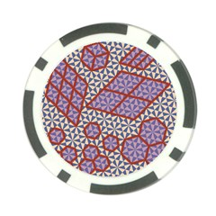 Triangle Plaid Circle Purple Grey Red Poker Chip Card Guard by Alisyart