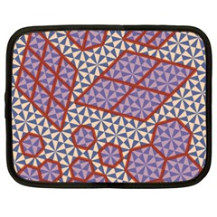 Triangle Plaid Circle Purple Grey Red Netbook Case (xxl)  by Alisyart
