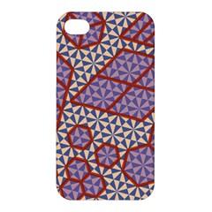 Triangle Plaid Circle Purple Grey Red Apple Iphone 4/4s Premium Hardshell Case by Alisyart