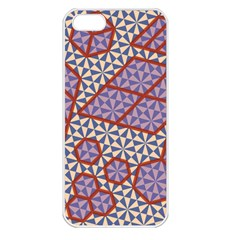 Triangle Plaid Circle Purple Grey Red Apple Iphone 5 Seamless Case (white) by Alisyart