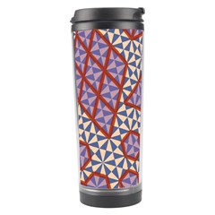 Triangle Plaid Circle Purple Grey Red Travel Tumbler by Alisyart
