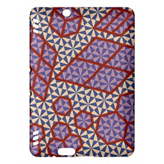 Triangle Plaid Circle Purple Grey Red Kindle Fire Hdx Hardshell Case by Alisyart
