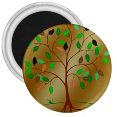 Tree Root Leaves Contour Outlines 3  Magnets by Simbadda