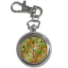 Tree Root Leaves Contour Outlines Key Chain Watches by Simbadda