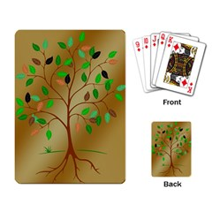 Tree Root Leaves Contour Outlines Playing Card by Simbadda