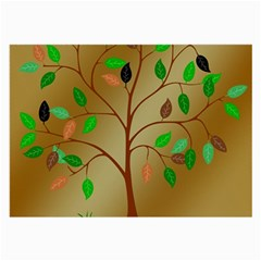 Tree Root Leaves Contour Outlines Large Glasses Cloth by Simbadda
