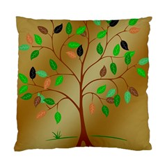 Tree Root Leaves Contour Outlines Standard Cushion Case (two Sides) by Simbadda