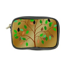 Tree Root Leaves Contour Outlines Coin Purse by Simbadda