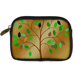 Tree Root Leaves Contour Outlines Digital Camera Cases by Simbadda