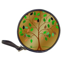 Tree Root Leaves Contour Outlines Classic 20 Cd Wallets by Simbadda