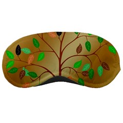 Tree Root Leaves Contour Outlines Sleeping Masks by Simbadda