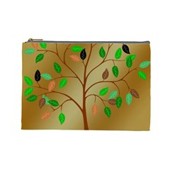 Tree Root Leaves Contour Outlines Cosmetic Bag (large)  by Simbadda