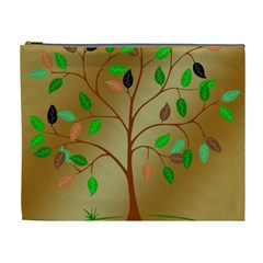 Tree Root Leaves Contour Outlines Cosmetic Bag (xl) by Simbadda