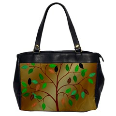 Tree Root Leaves Contour Outlines Office Handbags by Simbadda