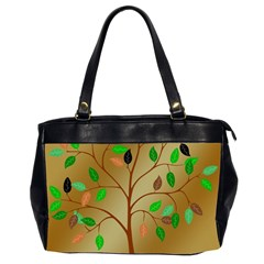 Tree Root Leaves Contour Outlines Office Handbags (2 Sides)  by Simbadda