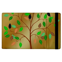 Tree Root Leaves Contour Outlines Apple Ipad 2 Flip Case by Simbadda
