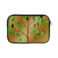 Tree Root Leaves Contour Outlines Apple Ipad Mini Zipper Cases by Simbadda