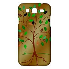 Tree Root Leaves Contour Outlines Samsung Galaxy Mega 5 8 I9152 Hardshell Case  by Simbadda