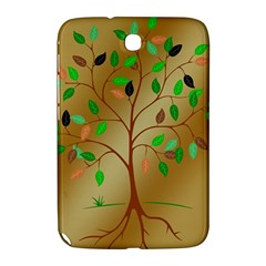 Tree Root Leaves Contour Outlines Samsung Galaxy Note 8 0 N5100 Hardshell Case  by Simbadda