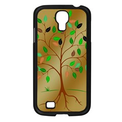 Tree Root Leaves Contour Outlines Samsung Galaxy S4 I9500/ I9505 Case (black) by Simbadda