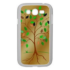 Tree Root Leaves Contour Outlines Samsung Galaxy Grand Duos I9082 Case (white) by Simbadda