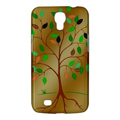 Tree Root Leaves Contour Outlines Samsung Galaxy Mega 6 3  I9200 Hardshell Case by Simbadda