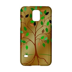 Tree Root Leaves Contour Outlines Samsung Galaxy S5 Hardshell Case  by Simbadda