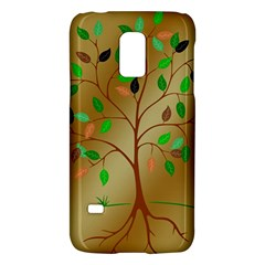 Tree Root Leaves Contour Outlines Galaxy S5 Mini by Simbadda