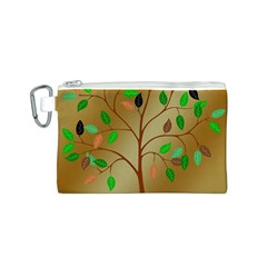 Tree Root Leaves Contour Outlines Canvas Cosmetic Bag (s) by Simbadda