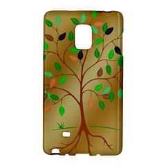 Tree Root Leaves Contour Outlines Galaxy Note Edge by Simbadda