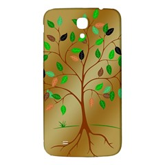Tree Root Leaves Contour Outlines Samsung Galaxy Mega I9200 Hardshell Back Case by Simbadda
