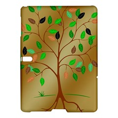 Tree Root Leaves Contour Outlines Samsung Galaxy Tab S (10 5 ) Hardshell Case  by Simbadda