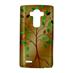 Tree Root Leaves Contour Outlines Lg G4 Hardshell Case by Simbadda