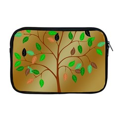 Tree Root Leaves Contour Outlines Apple Macbook Pro 17  Zipper Case by Simbadda