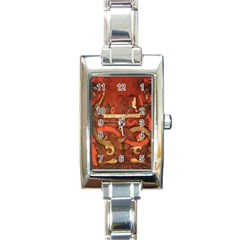 Works From The Local Rectangle Italian Charm Watch by Simbadda