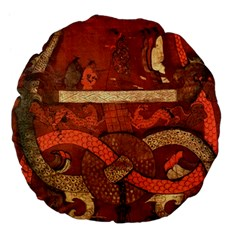 Works From The Local Large 18  Premium Flano Round Cushions by Simbadda