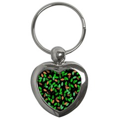 Leaves True Leaves Autumn Green Key Chains (heart)  by Simbadda