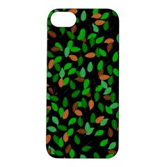 Leaves True Leaves Autumn Green Apple Iphone 5s/ Se Hardshell Case by Simbadda