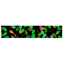 Leaves True Leaves Autumn Green Flano Scarf (small) by Simbadda