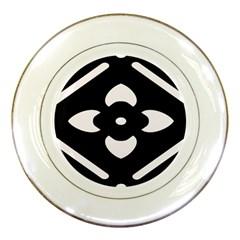 Pattern Background Porcelain Plates by Simbadda