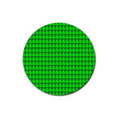 St  Patricks Day Green Rubber Round Coaster (4 Pack)  by PhotoNOLA