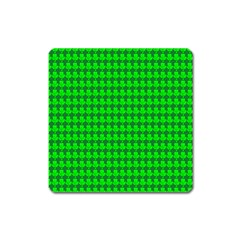 St  Patricks Day Green Square Magnet by PhotoNOLA