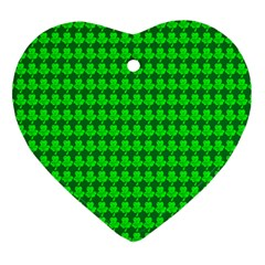 St  Patricks Day Green Heart Ornament (two Sides) by PhotoNOLA