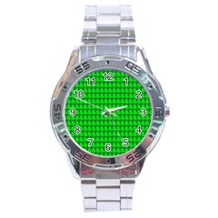 St  Patricks Day Green Stainless Steel Analogue Watch by PhotoNOLA