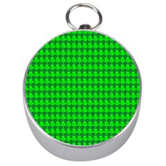 St  Patricks Day Green Silver Compasses by PhotoNOLA