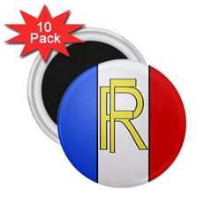 Semi Official Shield Of France 2 25  Magnets (10 Pack)  by abbeyz71