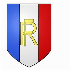 Semi Official Shield Of France Small Garden Flag (two Sides) by abbeyz71