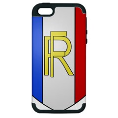 Semi Official Shield Of France Apple Iphone 5 Hardshell Case (pc+silicone) by abbeyz71